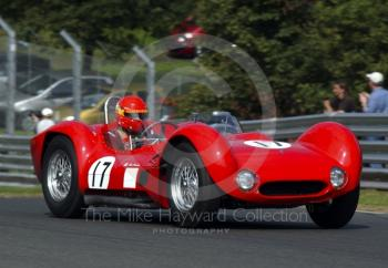 Alan Minshaw, Maserati 61 Birdcage, BRDC Historic Sportscars, Oulton Park Gold Cup, 2002