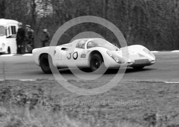 3rd place Porsche 907 2.2 of Vic Elford/Ludovico Scarfiotti, 1968 BOAC 500, Brands Hatch