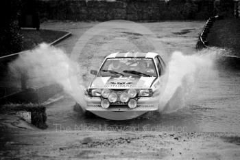 Rothmans Opel, water splash, Sutton Park, RAC Rally 1982