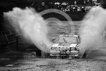 Jimmy McRae and Ian Grindrod, Opel Ascona, reg no GG-CK-188, Sutton Park, RAC Rally 1982.