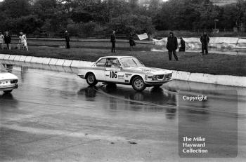 Roger Bell spins his BMW 2002 at the hairpin during the Castrol Production Saloon Car Championship Race, Mallory Park, 1972.