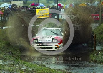 Marku Alen, 3rd place, Toyota Celica (K-AM 7462), 1992 RAC Rally, Weston Park