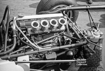 BRM F2 engine, Oulton Park, Spring International 1965.