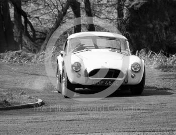 Vic Hassall, AC Cobra 4.2, reg no COP 464C, at the Triangle, Loton Park, April 27, 1969.