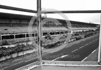 The view from the control tower window of the Raymond Sommer grandstand at the old grand prix circuit of Reims (Rheims) in France.