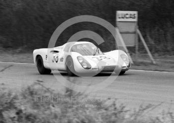 Gerhard Mitter/Ludovico Scarfiotti, Porsche 907 2.2, on the way to 2nd place, BOAC 500, Brands Hatch, 1968