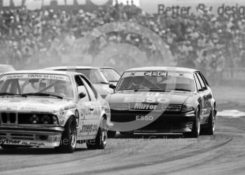 Charles Sawyer-Hoare, Equipe Esso Rover Vitesse, following Mike Newman, Ford Capri, Trimoco British Saloon Car Championship race, British Grand Prix, Silverstone, 1983.