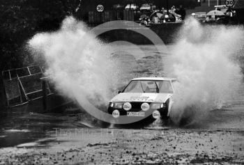 Bjorn Waldergard/Ragnor Spjuth (K SR 638), Toyota, 7th place, water splash, Sutton Park, RAC Rally 1982