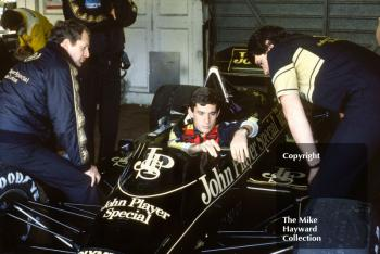 Ayrton Senna, Lotus 97T, Brands Hatch, 1985 European Grand Prix.