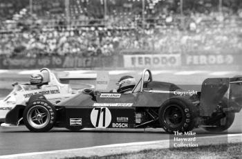 Hans George Burger, Ralt RT1 Toyota, spins at Copse Corner during the Formula 3 race, Silverstone, British Grand Prix 1979.