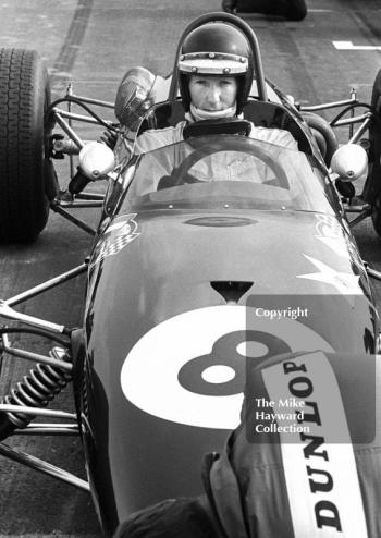 Jochen Rindt, Brabham BT23C, on the grid at the Thruxton Easter Monday F2 International, 1968.