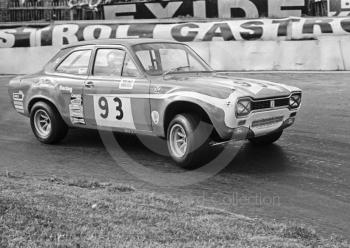Paul Shrubshall, Belmont Racing Ford Escort, Hepolite Glacier Saloon Race, Mallory Park, 1971