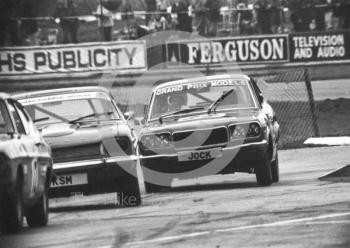 Jock Robertson, Mazda RX3, Britax Production Saloon Car Race, European F2 Championship meeting, Silverstone 1975.