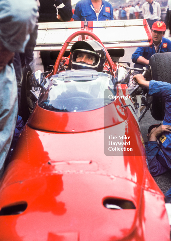 Jacky Ickx on the grid, Ferrari 312B F12, Brands Hatch, British Grand Prix 1970.