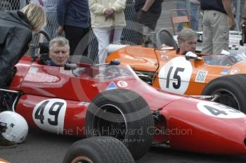 Jim Gathercole, 1970 Brabham BT30, and Chris Smith, 1970 Chevron B17, HSCC Classic Racing Cars Retro Track and Air Trophy, Oulton Park Gold Cup meeting 2004.