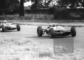 John Surtees F2 MRP Lola Cosworth on the way to victory, Oulton Park Gold Cup, 1965.