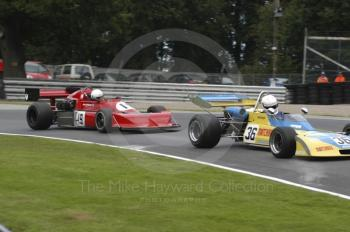 John Elliott, 1973 Surtees TS15, leads John Holmes, 1977 March 772P, European Formula 2 Race, Oulton Park Gold Cup meeting 2004.