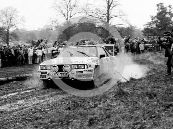 Terry Kaby, Kevin Gormley, Nissan 240 RS, EXI 7316, 1985 RAC Rally, Weston Park, Shropshire.