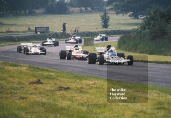 John Surtees, Brooke Bond Oxo/Rob Walker Surtees TS9; Henri Pescarolo, Frank Williams Racing March 711; and Peter Gethin, Yardley BRM P153, Oulton Park Gold Cup 1971.