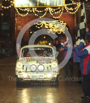 Michael Kahlfub/Gunter Friedemann, Trabant P601, at the finish line, 1992 RAC Rally