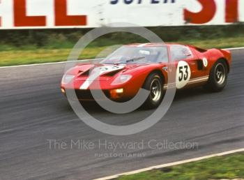 Eric Liddell/Peter Gethin, Ford GT40, Brands Hatch, BOAC 500, 1967.