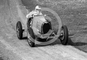 Frank Wall, Bugatti, on Cedar Straight, Loton Park, April 27, 1969.