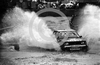 Talbot (BDU 222Y), water splash, Sutton Park, RAC Rally 1982