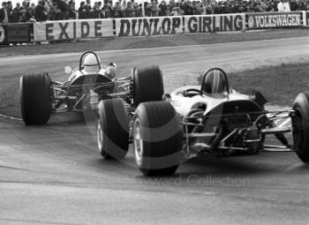 Cars exit the chicane, Thruxton, Easter Monday 1968.