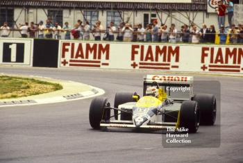 Nelson Piquet, Canon Williams FW11B, British Grand Prix, Silverstone, 1987.