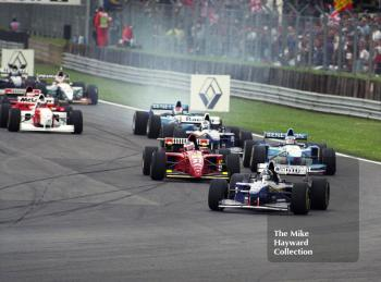 Damon Hill, Williams FW17, leads into Copse Corner, Silverstone, British Grand Prix 1995.