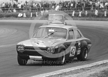 David Matthews, Melton Racing Ford Escort, finished 23rd overall, three laps down on the winner, Silverstone Martini Trophy meeting 1970.