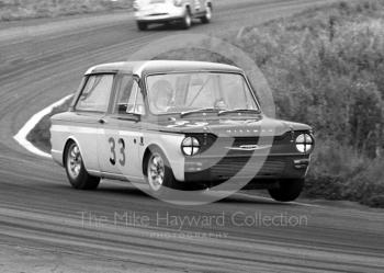 Tony Lanfranchi, Fraser Hillman Imp, retired on lap 18, Oulton Park Gold Cup meeting, 1967.
