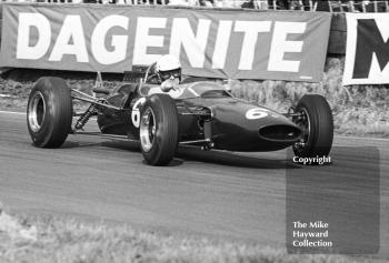 Brian Hart, Ron Harris Team Lotus Ford 35-F-3, at Old Hall Corner, Oulton Park, Spring International 1965.
