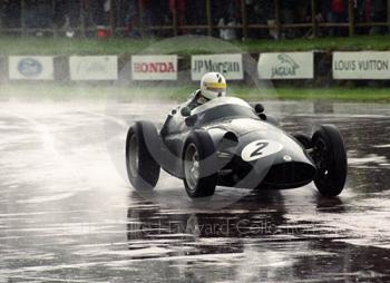 Richard Attwood, BRM 25, at the chicane, Richmond and Gordon Trophies, Goodwood Revival, 1999