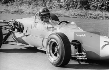 Graham Hill at Esso Bend with his F2 John Coombs Lotus 35 BRM, Oulton Park Gold Cup, 1965