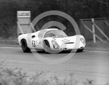 Valvoline Racing Team Porsche 910 of Rudi Lins and Karl Foitek, BOAC 500 (S-ZL 852), Brands Hatch, 1968.