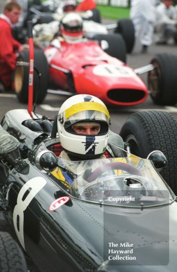 Richard Attwood, BRM P261, Glover Trophy, Goodwood Revival, 1999.