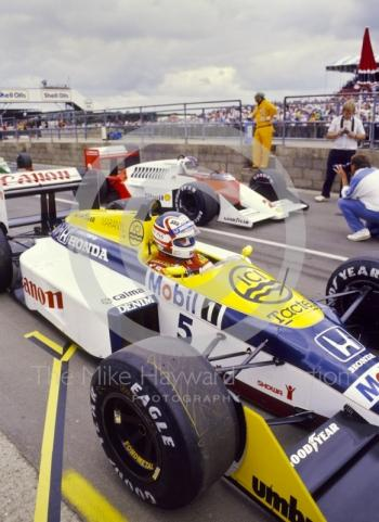 Nigel Mansell, Williams FW11B, Stefan Johansson, Mclaren MP4, British Grand Prix, Silverstone, 1987
