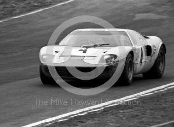 The winning JW Ford GT40 of Jacky Ickx and Brian Redman, BOAC 500, Brands Hatch, 1968