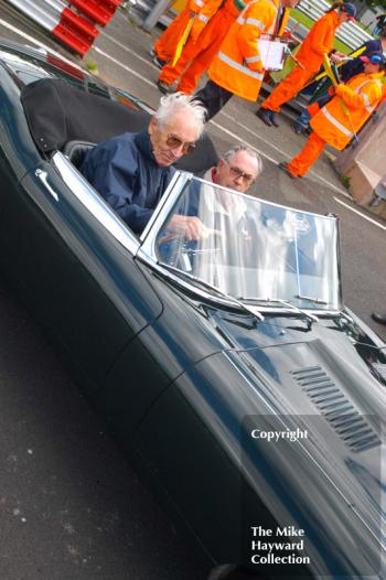 Roy Salvadori, left, and Jack Brabham, Jaguar E type, Oulton Park Gold Cup meeting 2004.