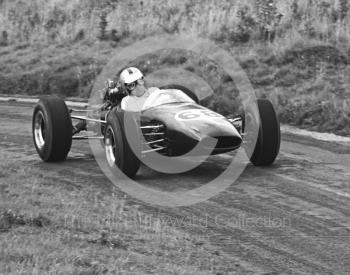 J Johnstone, Brabham BT15, Loton Park Hill Climb, September 1968.