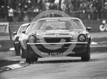 John Brindley, Chevrolet Camaro, Britax Production Saloon Car Race, European F2 Championship meeting, Silverstone 1975.