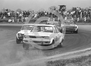 Gerry Marshall, Shaw and Kilburn Vauxhall Viva GT, at Copse Corner on the way to fifth place in class C, Silverstone Martini Trophy meeting 1970.