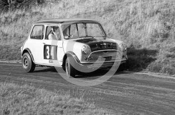 J Francis, Mini Cooper S, Loton Park, September 1968.
