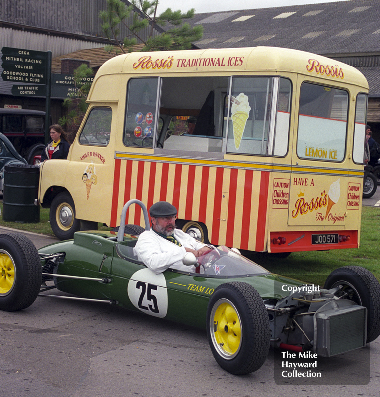 A Lotus waits for an ice cream, Goodwood Revival, 1999