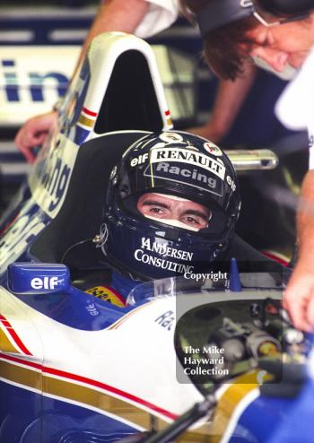 Damon Hill, Williams FW17, Silverstone, British Grand Prix 1995.