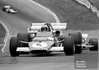Clay Regazzoni, Ferrari 312B, brakes for Druids Hairpin, British Grand Prix, Brands Hatch, 1970