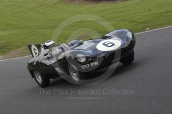 Ben Eastick, 1955 Jaguar D Type, reg no 207 RW, BRDC Historic Sports Car Championship Race, Oulton Park Gold Cup meeting 2004.