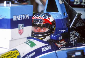Michael Schumacher, Benetton B195, Silverstone, British Grand Prix 1995.