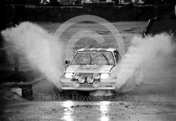 Opel, water splash, Sutton Park, RAC Rally 1982